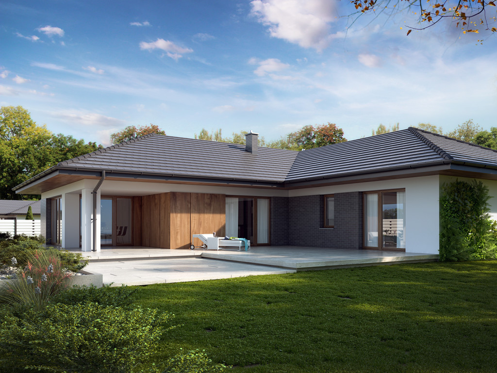 Wizualizacja budynku według projekt domu arteo 3 facade house house facades modern house plans