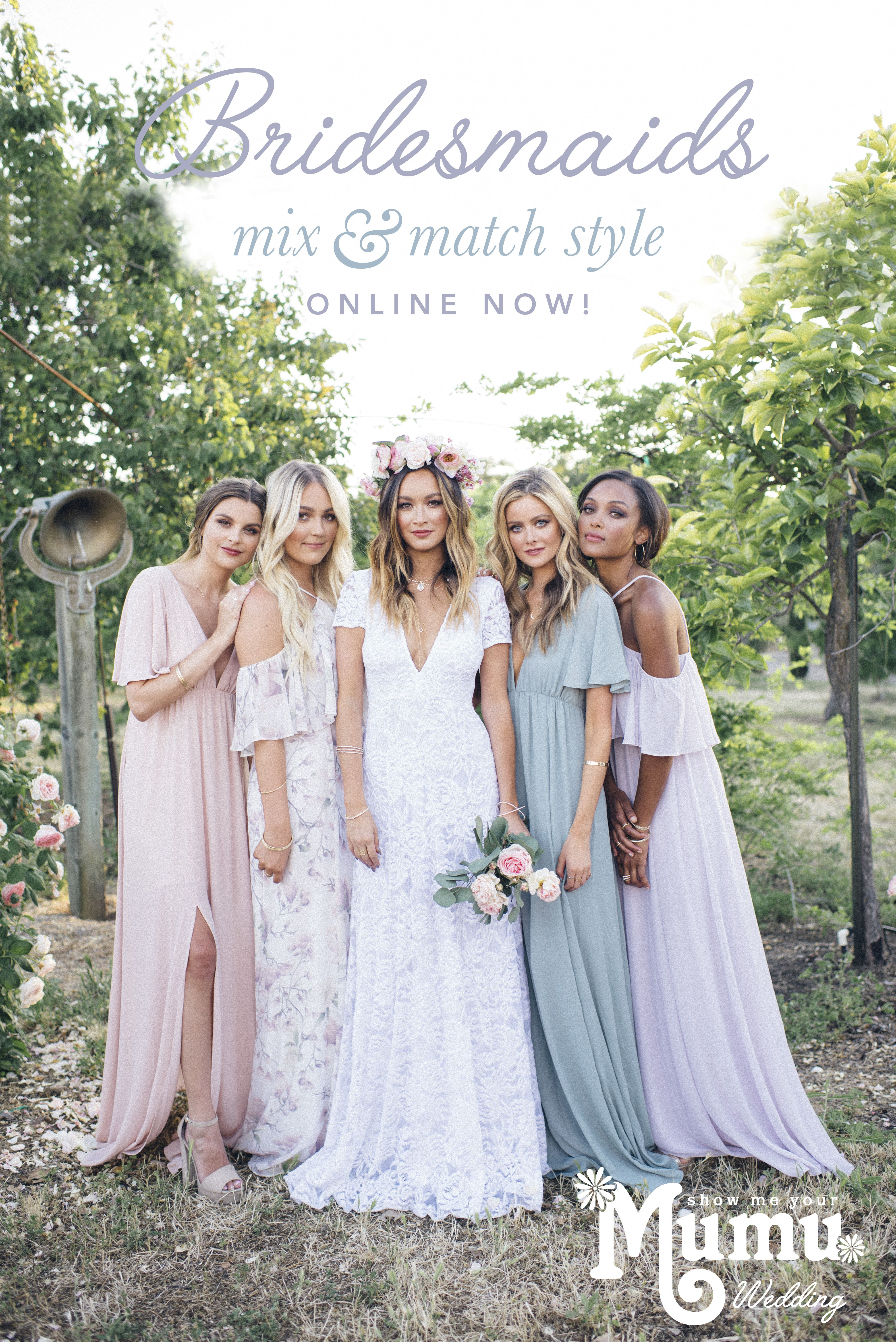 Neutral pastels jewel tones and classic colored bridesmaid neutral pastels jewel tones and classic colored bridesmaid dresses to mix match ombrellifo Image collections