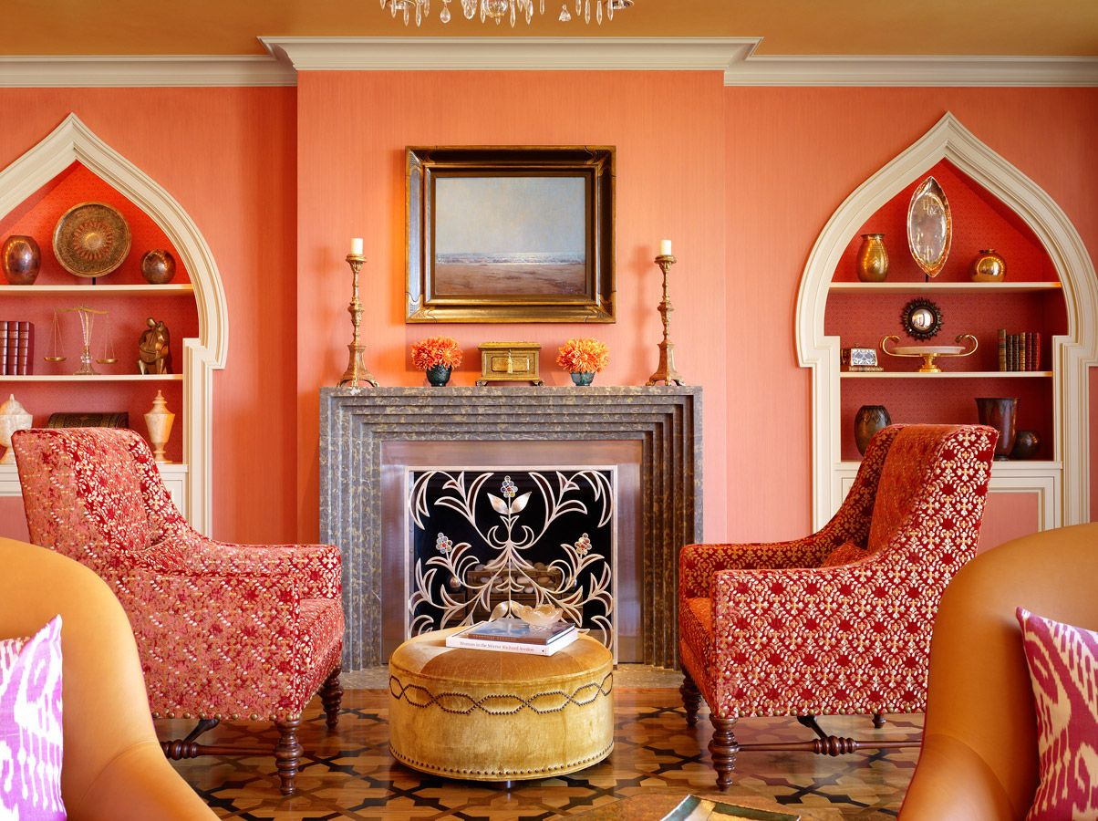 Inspiring moroccan living room designs charming moroccan Orange and red living room design