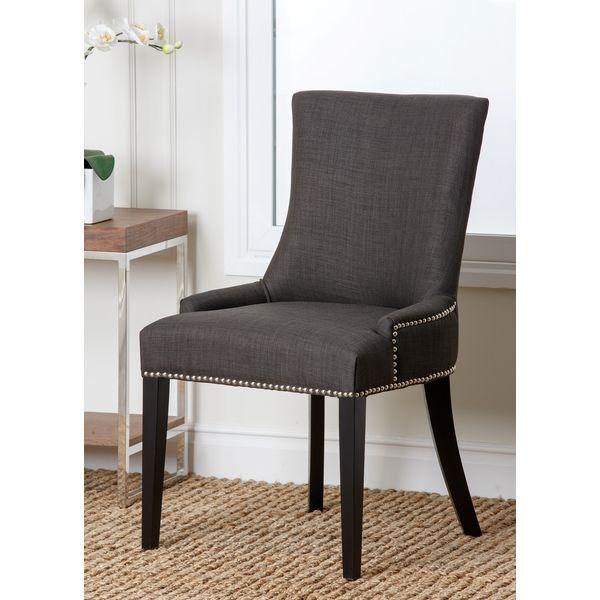 Charmant Abbyson Living Newport Grey Fabric Nailhead Trim Dining Chair   Overstock™  Shopping   Great Deals On Abbyson Living Dining Chairs