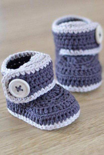 2bf4fbfea9d9 Patterns for Crochet Baby Booties