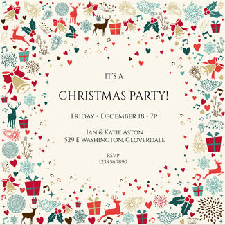 Signs Of The Season   Free Printable Christmas Invitation Template  Create Invitations Online Free No Download