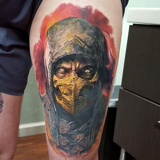 Tattoo Designs Mk: BadAss Warrior Tattoo Scorpion Of Mortal Kombat