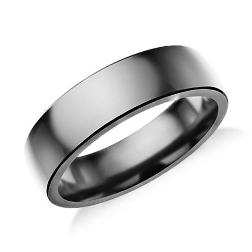 Wedding Bands Classic Bands Domed Bands Titanium 6mm Brushed Band Size 13.5