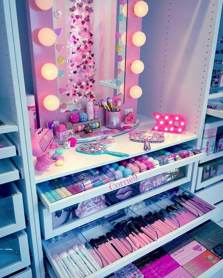 Girly Diy Bedroom: DIY Makeup Room Ideas, Organizer, Storage And Decorating