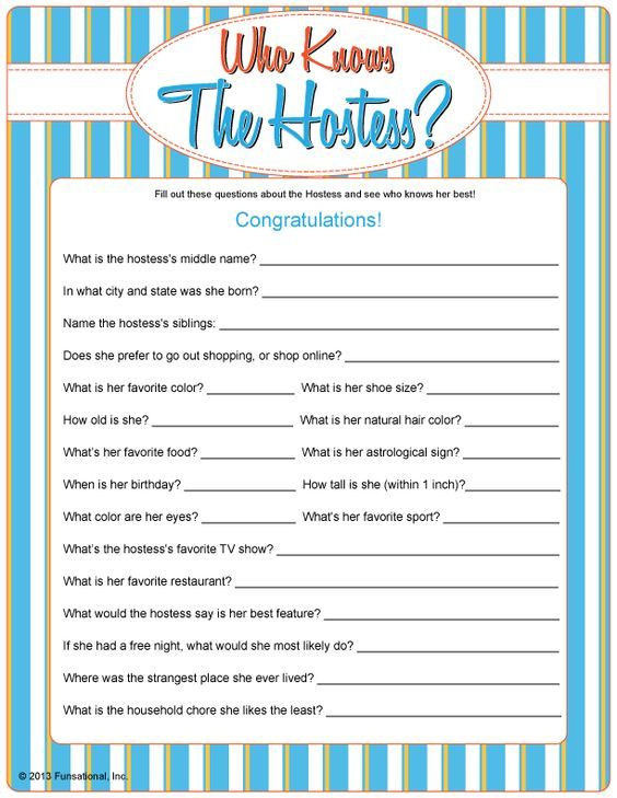 Who Knows The Hostess Questions And Answers For Fun Laughable Ice