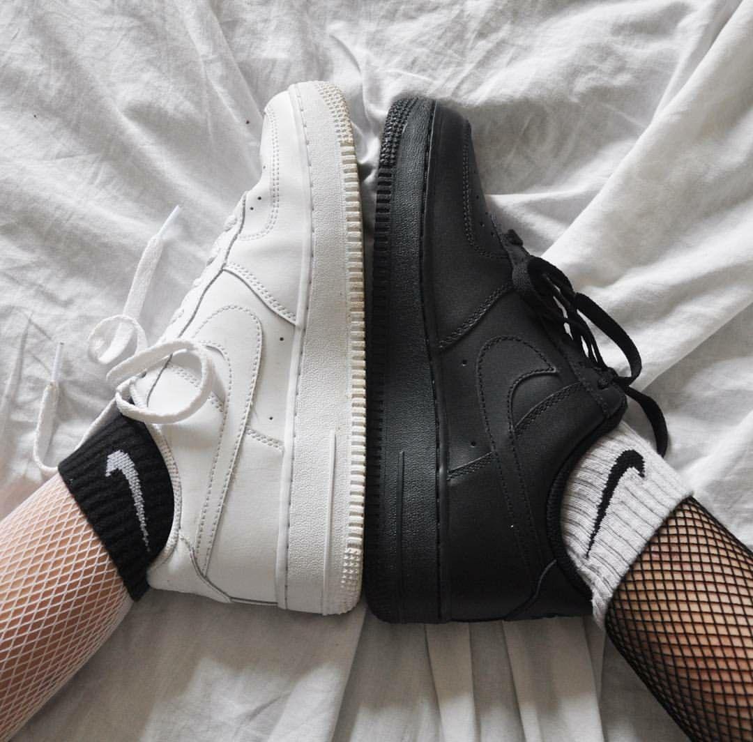 white fishnets | black nike socks