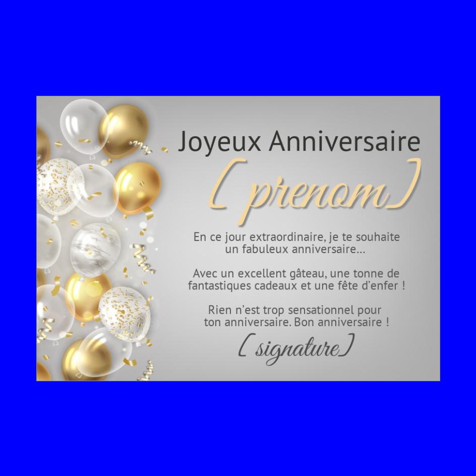 Carte Anniversaire A Imprimer Ballon Doree Carte Anniversaire A Imprimer Carte Anniversaire Carte Joyeux Anniversaire