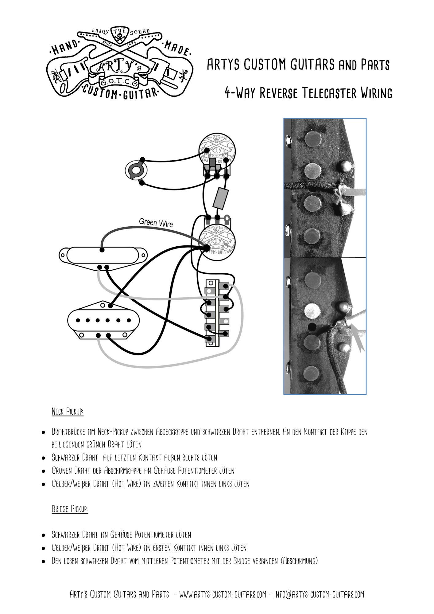 497c7bfde440da0c731b70fa3253046a arty's custom guitars wiring diagram 4 way reverse control plate telecaster custom wiring diagram at mifinder.co