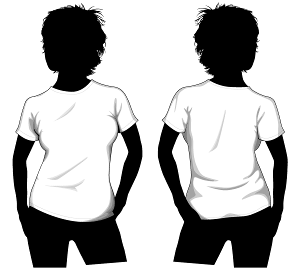 Download Vector Girls T Shirt Template Front And Back T Shirt Design Template Free T Shirt Design Girls Tshirts