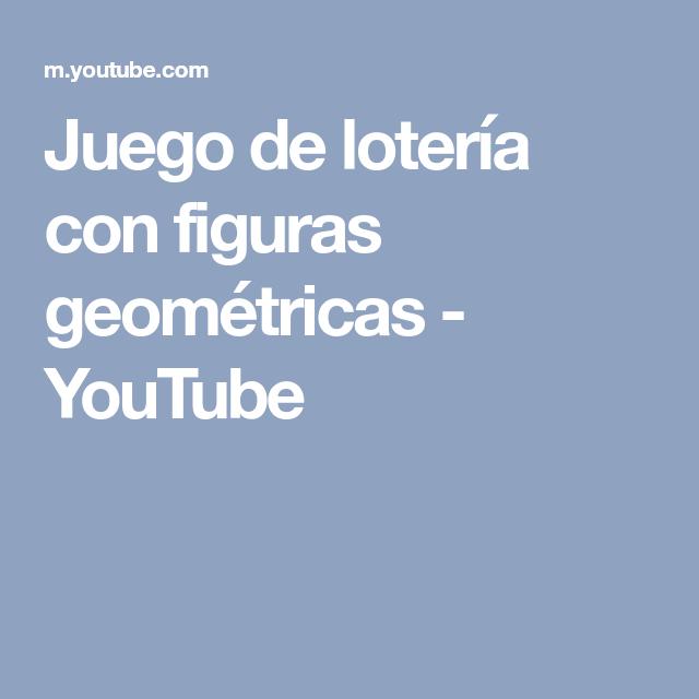 ce447b8b80626 Juego de lotería con figuras geométricas - YouTube