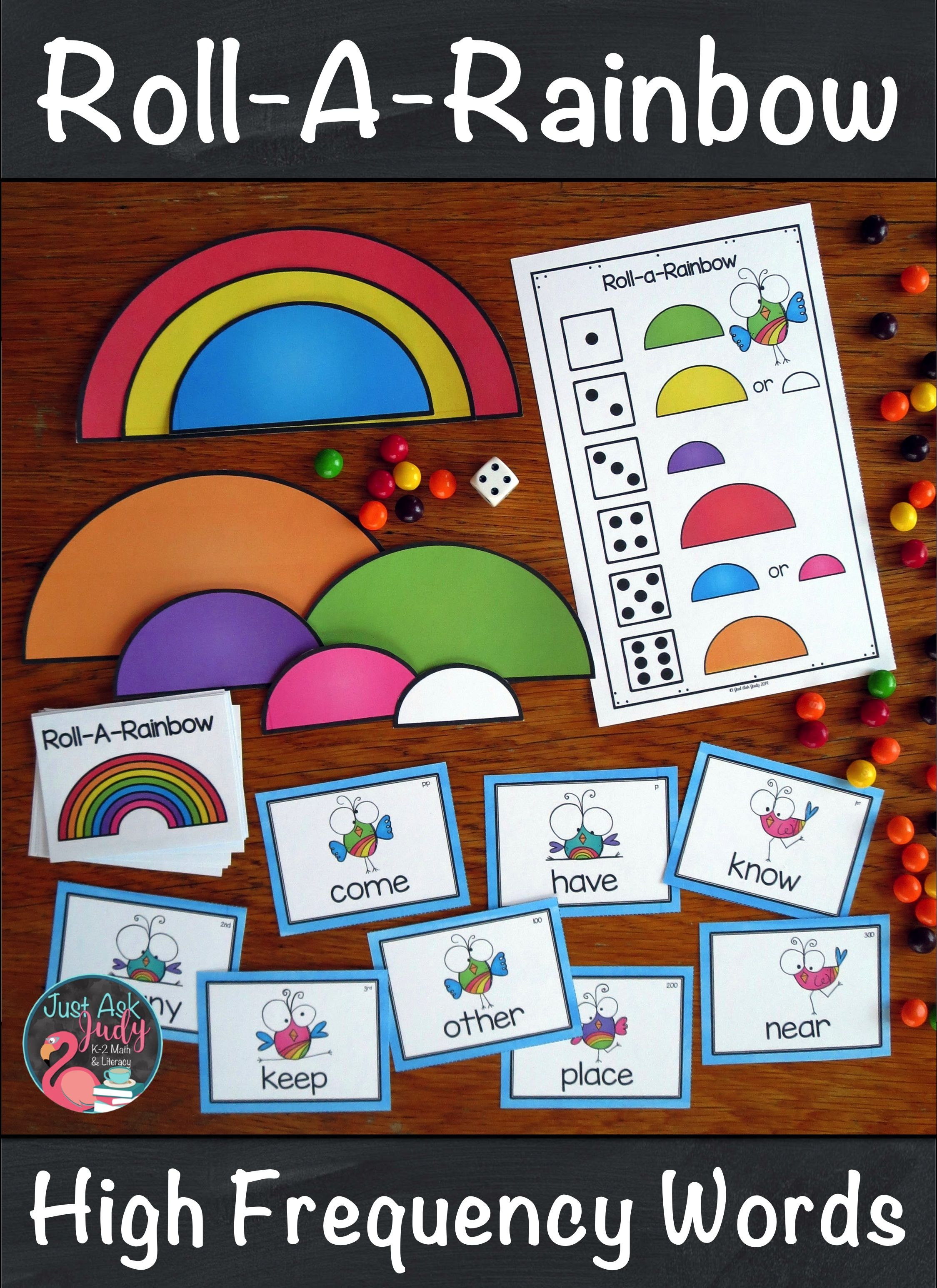 Roll A Rainbow Sight Words High Frequency Words Rainbow Lessons Sight Words Kindergarten [ 3092 x 2249 Pixel ]