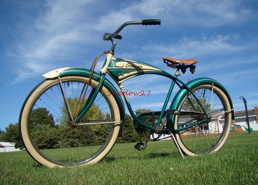 Green Cruiser Saddle Seat for Vintage Schwinn Tank Bike /& Other Cruiser Bicycles