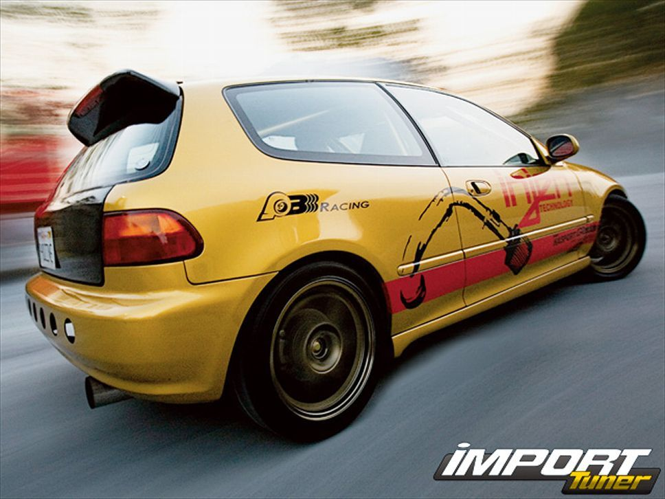 Charmant Drag 1994 EG Honda Civic Si, B18C1 Integra GS R Engine / 789hp And