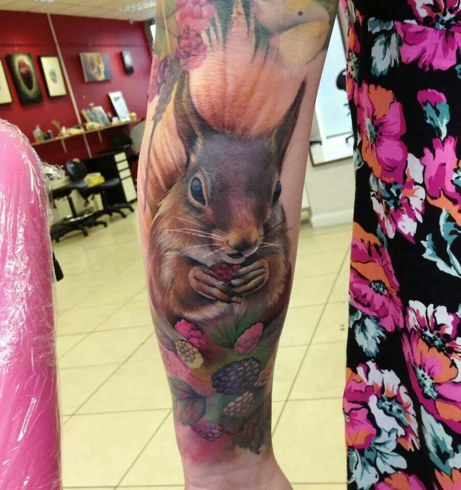 realistic squirrel tattoo animal tattoos pinterest squirrel