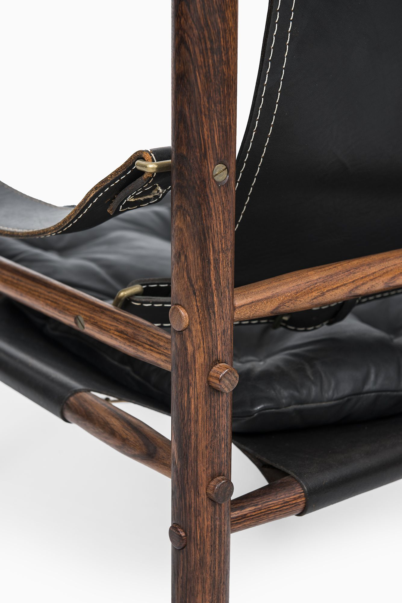 Arne Norell Sirocco in rosewood and black leather at Studio Schalling