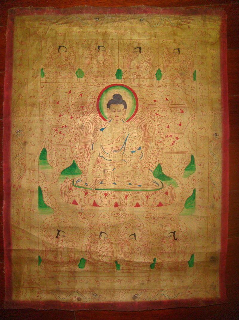 Tibet Monastery Tibetan Buddhist Thangka Tangka Painting The Shakyamuni  Buddha A   EBay