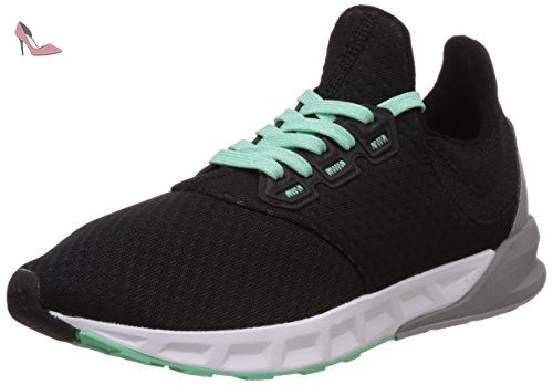 adidas Falcon Elite 5 W, Chaussures de Running Entrainement Femme, Noir/Vert (Noir Essentiel/Noir Essentiel/Vert Brillant), 36 EU