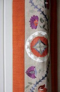 Drapery Fabric Ideas. Drapery Fabric. The drapery is the combination of three fabrics the embroidered piece is by Lee Jofa. #DraperyFabric Harman Wilde.