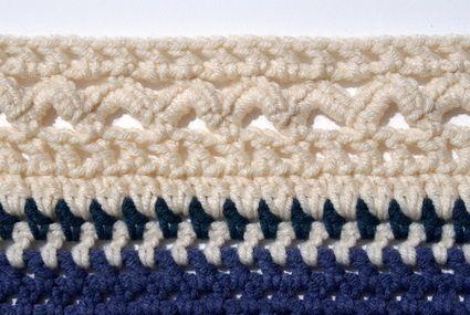 A Scalloped Crochet Border Pattern Crochet Edging Pinterest