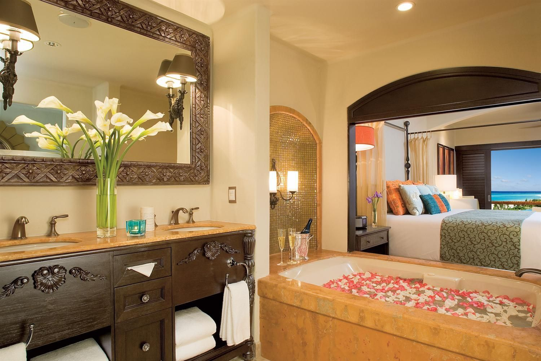Junior Suite full bathroom Secrets Maroma Beach Riviera Cancun