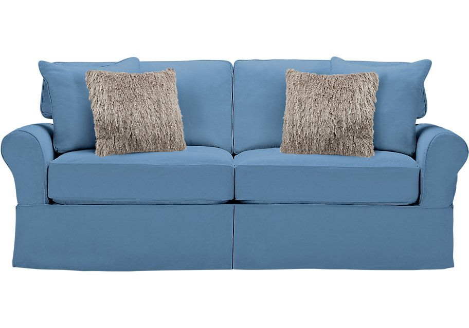 Beachside Blue Sofa 699 99 86 5w X 41d 36h Find Affordable Sofas For Your Home That Will Complement The Rest Of Furniture