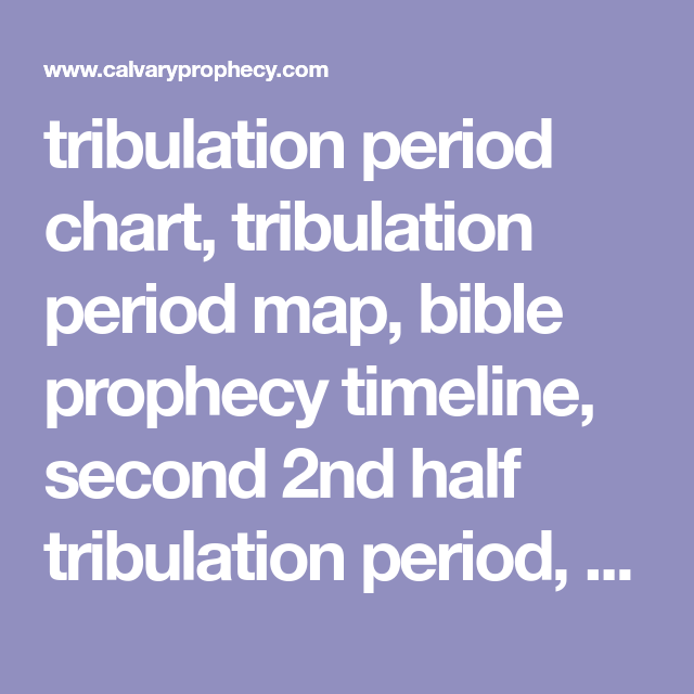 Tribulation Period Chart Map Prophecy Timeline Second 2nd Half End Times Last Days