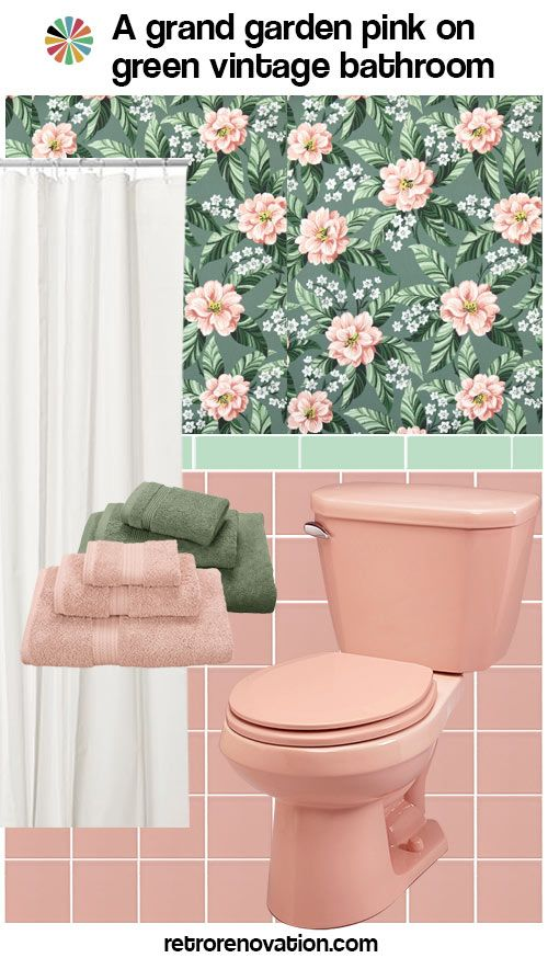 11 Ideas To Decorate A Pink And Green Tile Bathroom Pink Shower