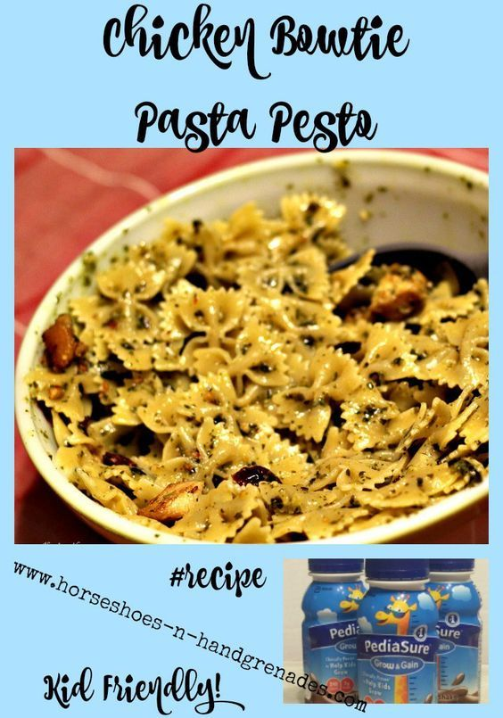 My daughter is underweight and a very picky eater. We're turning that around with the help of PediaSure and this Kid Friendly Chicken Pesto Bowtie Pasta #recipe #2PerDay #ad