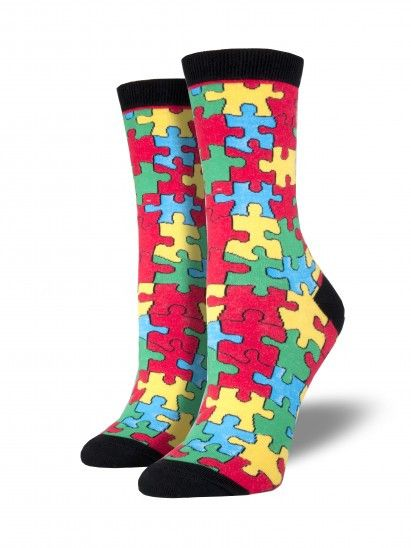 c51602e58f9e Our Autism Awareness Socks feature the brightly colored puzzle which has  become the international symbol for autism.