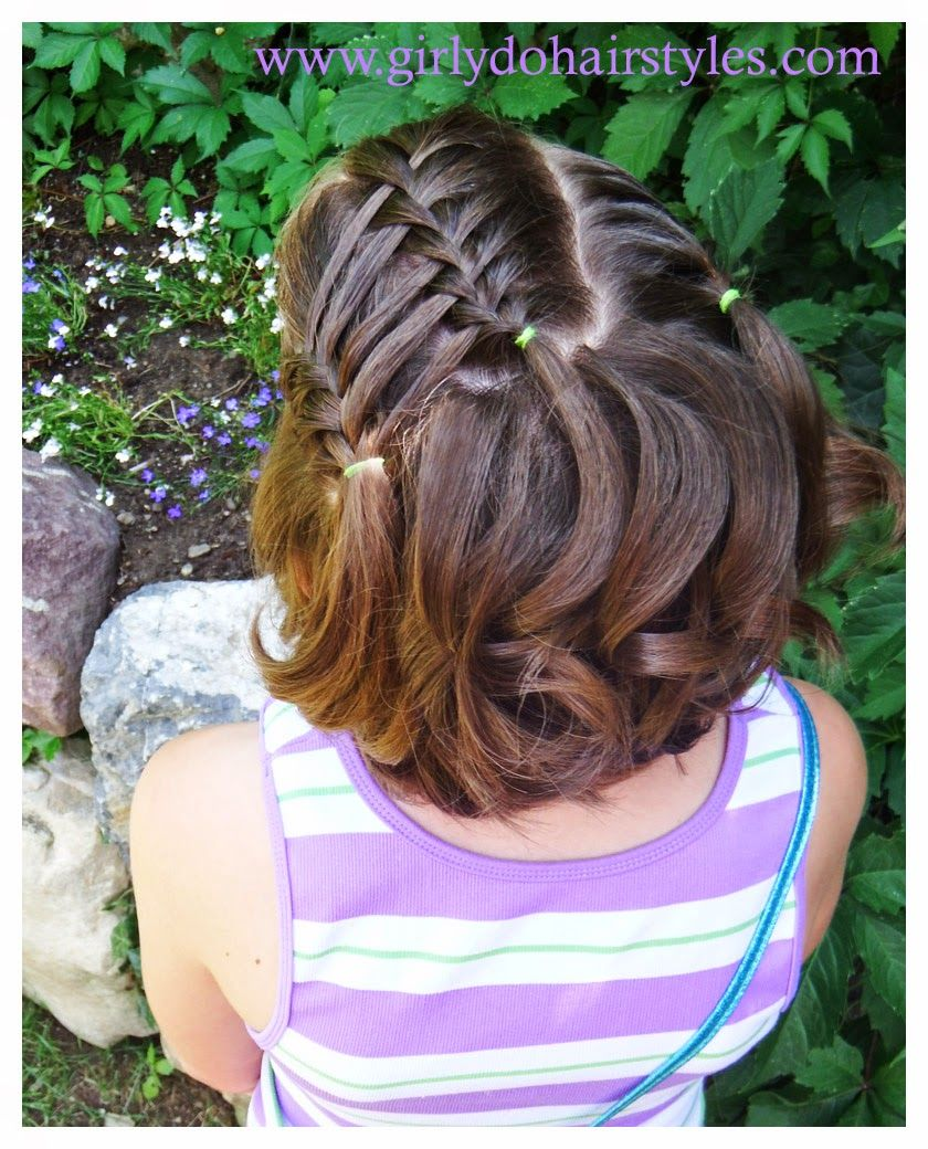 Girly Do Hairstyles By Jenn Ladder Waterfall Style For Short Or Long Hair Hair Styles Cute Volleyball Hairstyles Kids Hairstyles