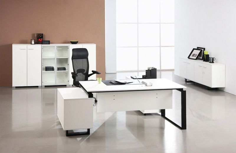 Modern office furniture ideas material budget for White modern office furniture