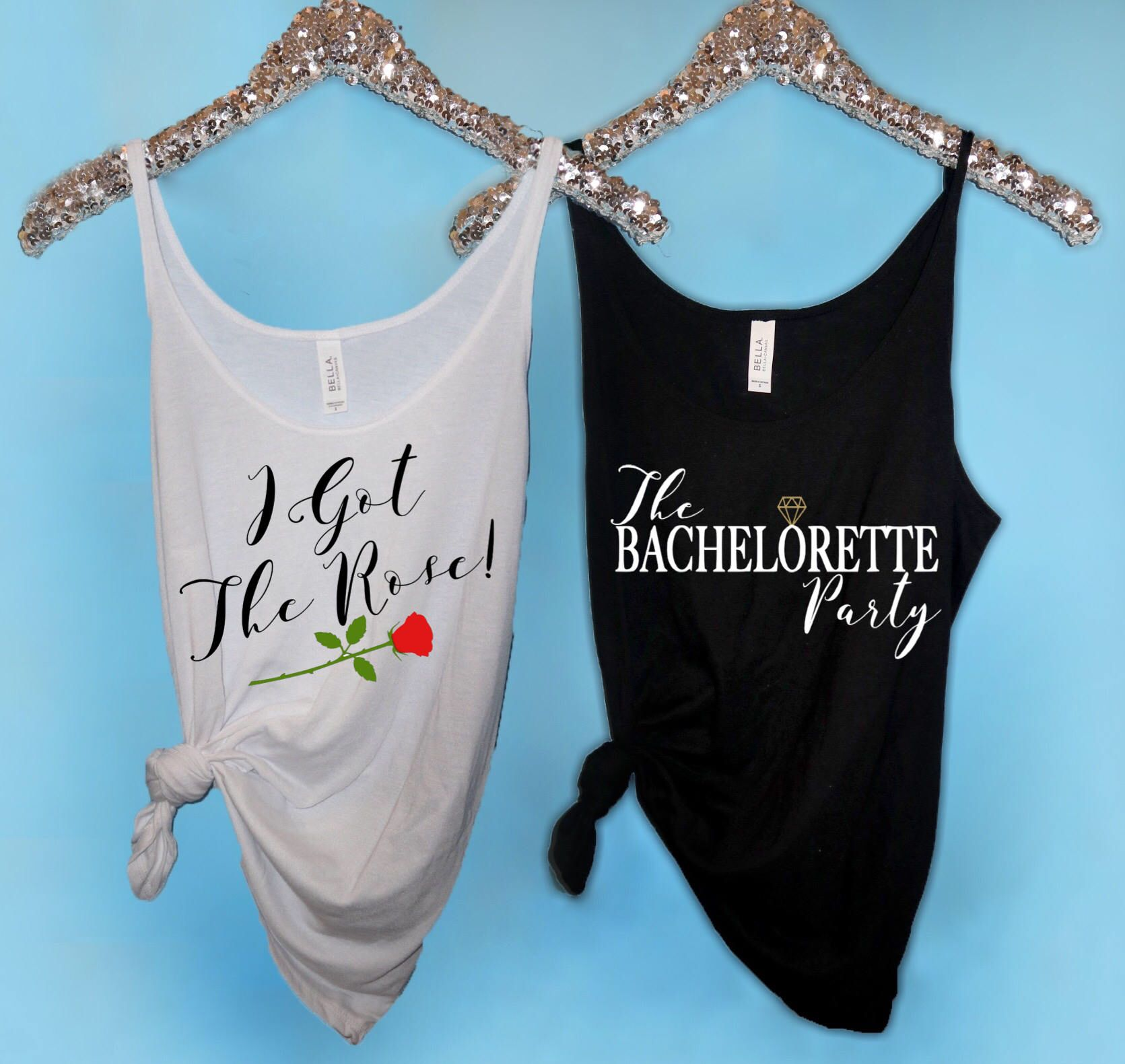 Bachelorette Party Shirts, I Got the Rose Slouchy Tank The ...