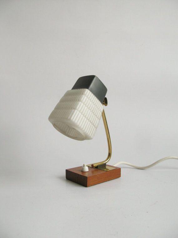 Small 1960s Table Lamp Minimalist Danish By Oldishbutgoldish 54 00 Lamp Table Lamp Glass Lamp Shade