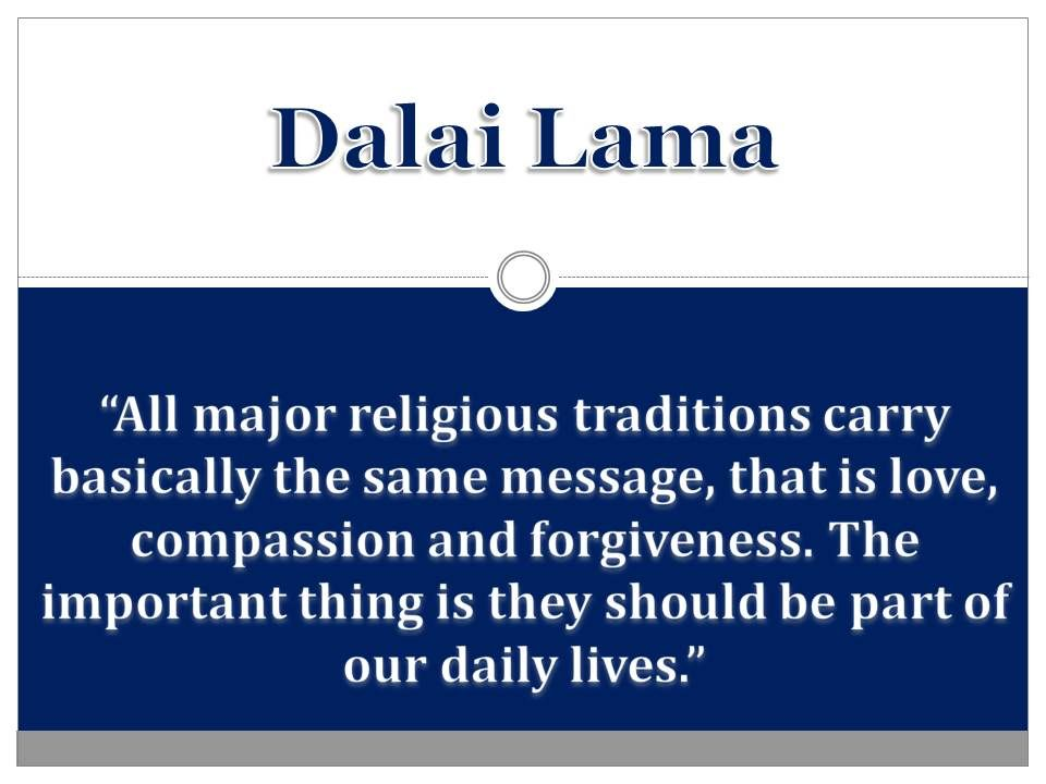 Quote From The Dalai Lama About Love And Compassion Buddhism