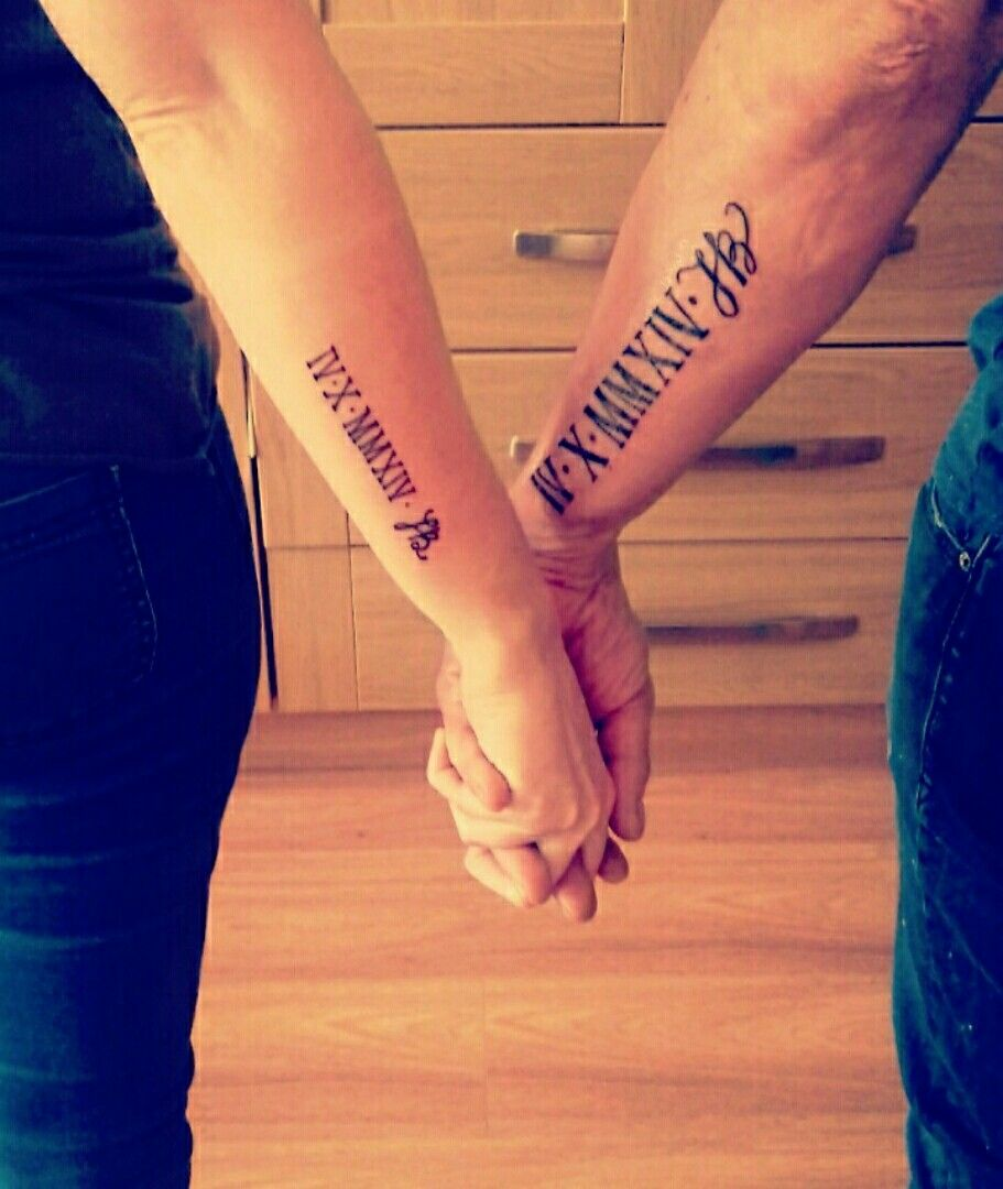 Wedding Date Tattoo With My Wife On Our Anniversary Wedding Date