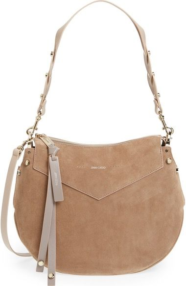 Jimmy Choo Artie Suede Hobo Bag available at #Nordstrom