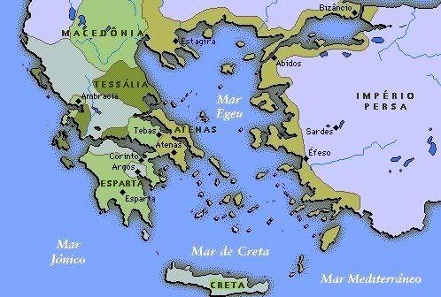 A Grecia Antiga Estava Dividida Em Tres Regioes Grecia Asiatica