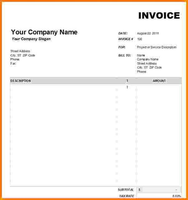 Blank Invoices To Print Brilliant Blank Invoice Templates For Service Invoice  Blank Invoice Template .