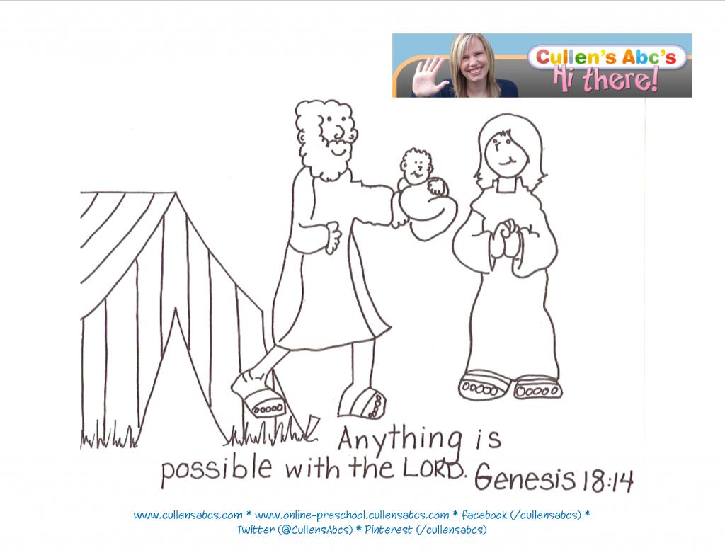 Abraham Sarah Bible Memory Verse Childrens Videos Kids Art