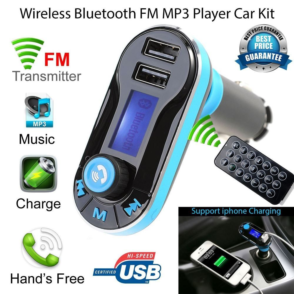 Car bluetooth fm transmitter wireless mp3 radio player