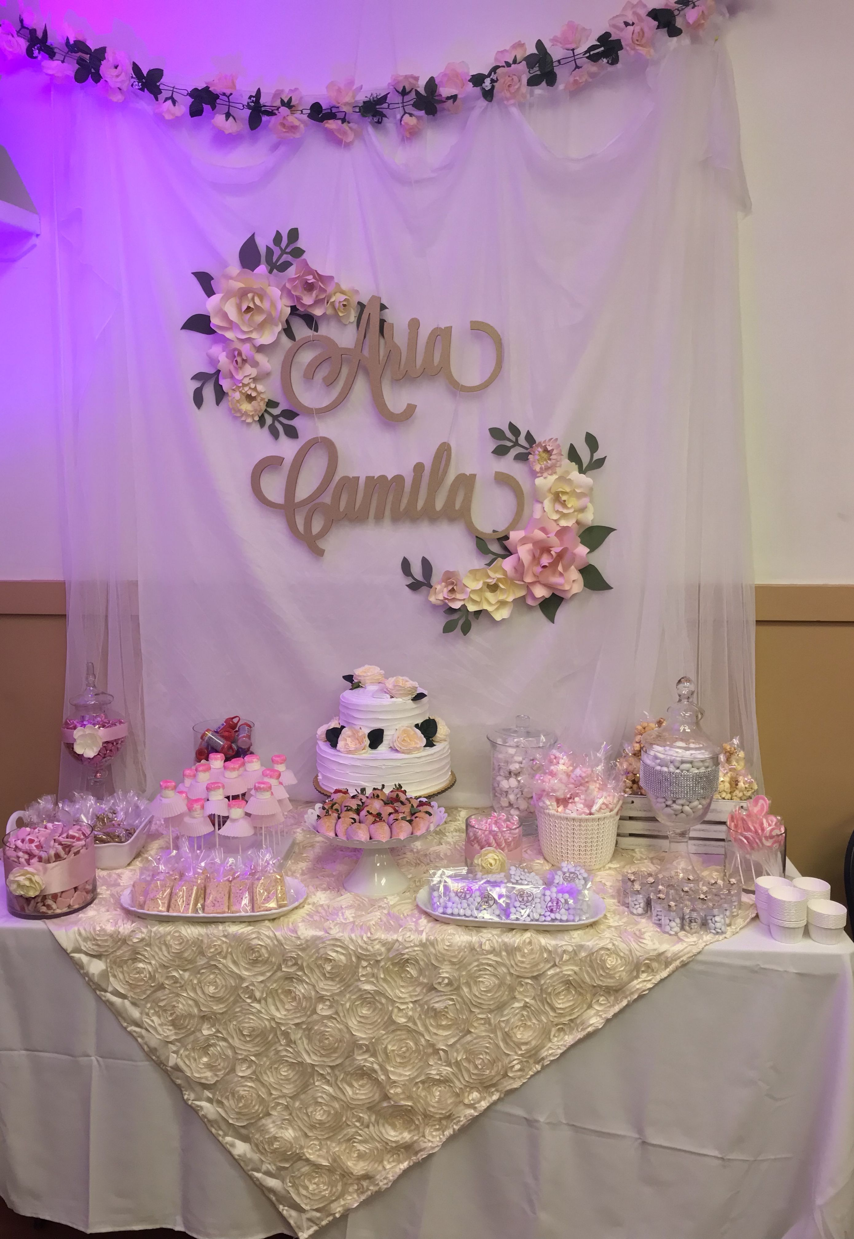 Manteles Para Mesas Dulces Baptism Candy Table Manteles First Communion Party