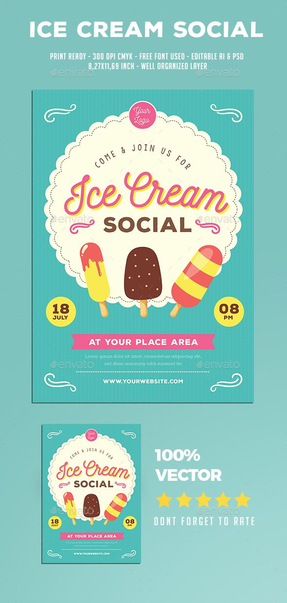 Ice Cream Social Flyer Ice Cream Social Flyer Template And Flyer