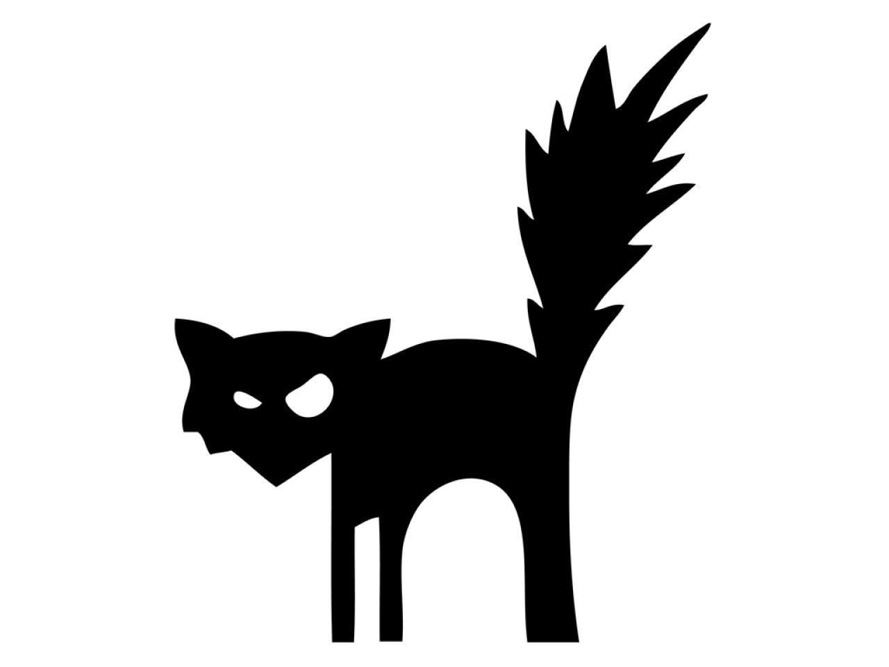 Printable halloween decorations cat - 41 Printable And Free Halloween Templates