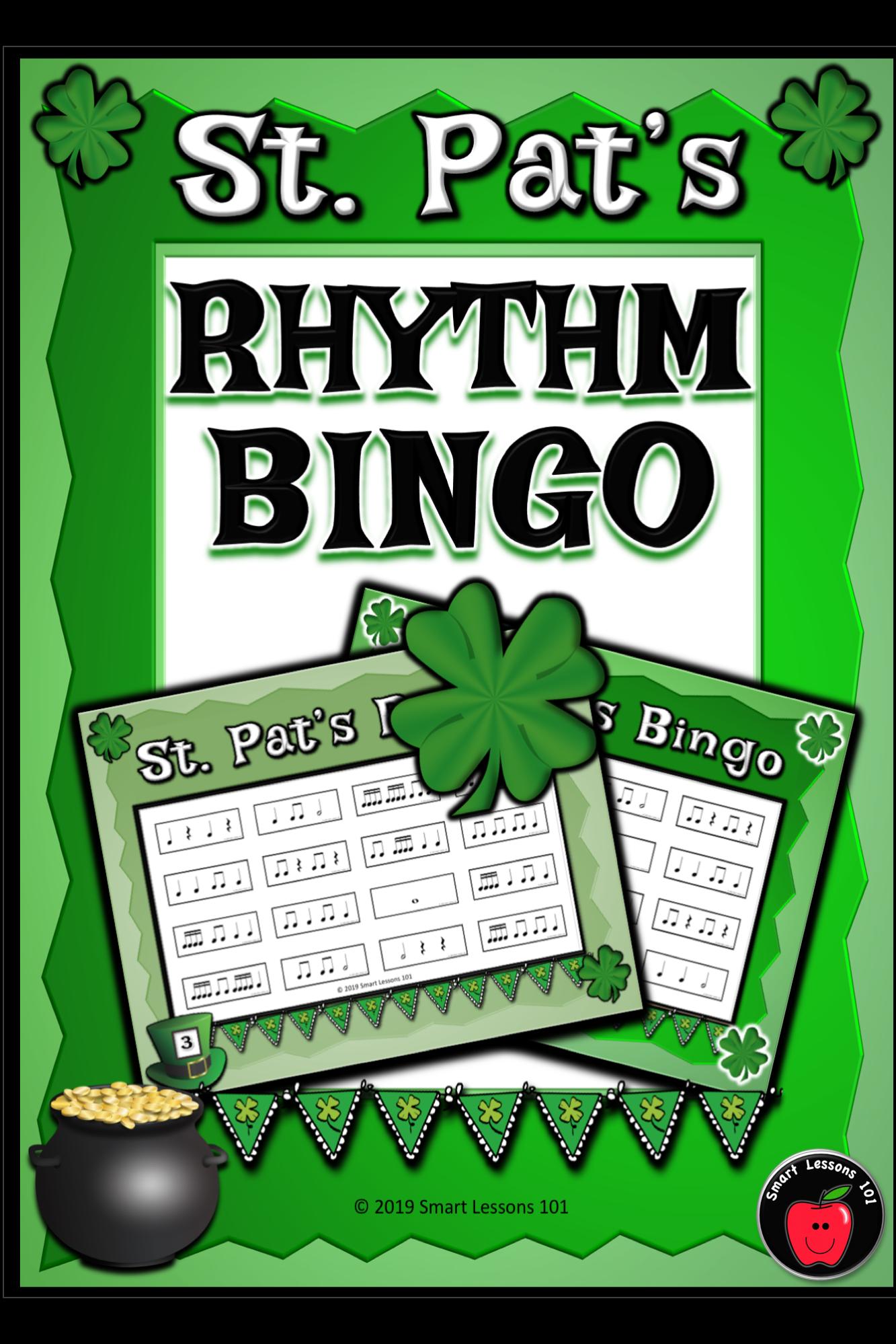 St Patricks Day Music Game Rhythm Bingo Game St Patricks
