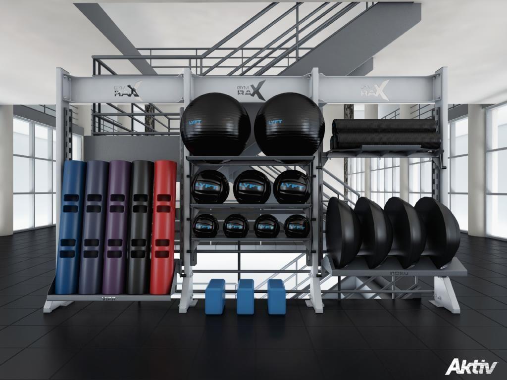 Merveilleux Functional Gym Storage. #gymdesign #fitnessdesign #gymrax #functionalfitness