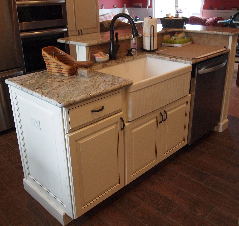 small kitchen dishwashers large rugs island with farm sink and dishwasher elevated