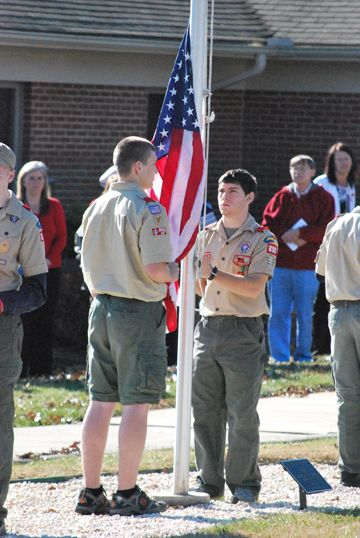 Icard/Hildebran, NC Boy Scout Troop 898 leading the flag ceremony for our 2013 We Honor Veterans Ceremony