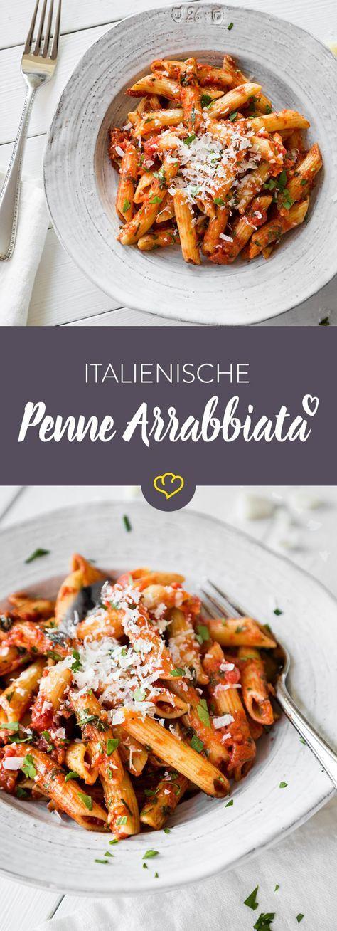 Penne Arrabbiata – der italienische Klassiker #healthyrecipes