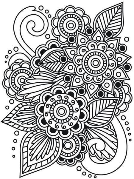 Página para colorear #doodle #colorear #imprimible #free #flores ...